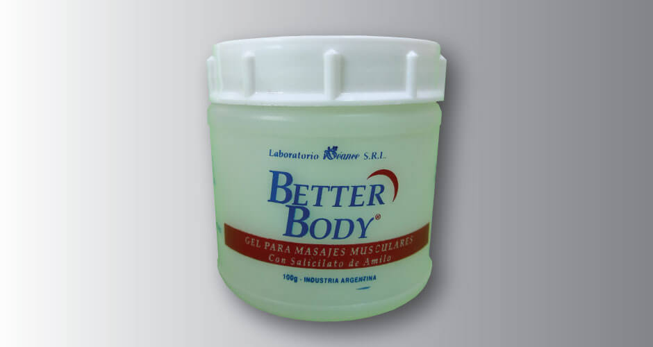 BETTER BODY Gel para masajes musculares